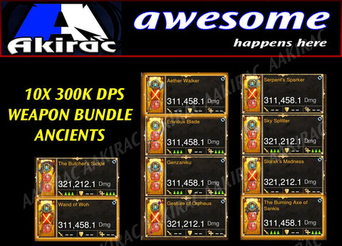 10x 300k+ Legendary Modded Weapon Bundle #4-Diablo 3 Mods - Playstation 4, Xbox One, Nintendo Switch