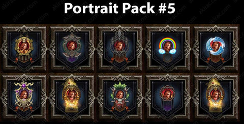 Cosmetic Frame Portrait Bundle #5-Diablo 3 Mods - Playstation 4, Xbox One, Nintendo Switch