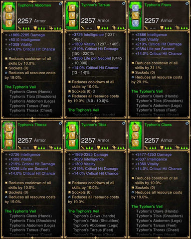 6x Piece Patch 2.6.8 Typhon Wizard Set