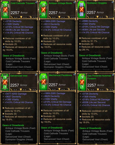 6x Piece Patch 2.6.9 Dreadlands Demon Hunter Set