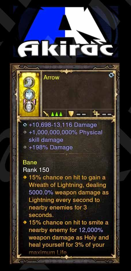 1000000000% Modded Ring 10-13k Damage, 198% Damage, Arrow-Diablo 3 Mods - Playstation 4, Xbox One, Nintendo Switch