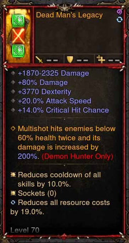 [Primal Ancient] [QUAD DPS] 2.6.1 Deadman's Legacy Quiver-Diablo 3 Mods - Playstation 4, Xbox One, Nintendo Switch