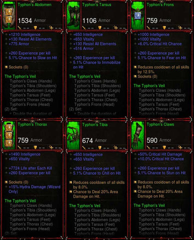 [Primal Ancient] Legit Typhon Wizard Set 6x Pieces
