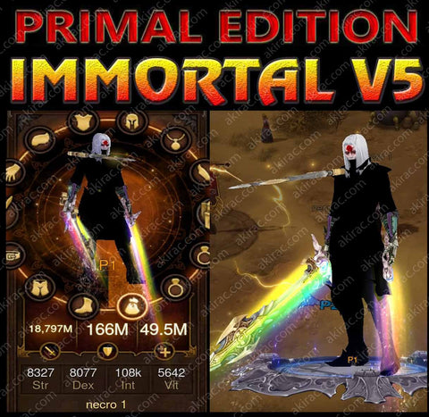 [Primal Ancient] Immortality v5 Barren Modded Necromancer Inarius Set-Diablo 3 Mods - Playstation 4, Xbox One, Nintendo Switch