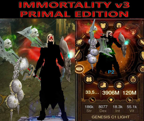 [Primal Ancient] Immortality v3 Light Crusader Genesis-Diablo 3 Mods - Playstation 4, Xbox One, Nintendo Switch
