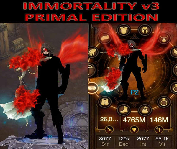 [Primal Ancient] Immortality v3 Unhallow Demon Hunter Dragon Level 1-70-Diablo 3 Mods - Playstation 4, Xbox One, Nintendo Switch