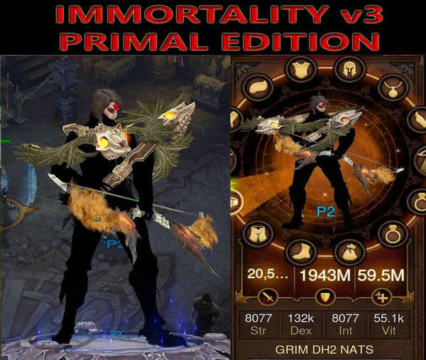 [Primal Ancient] Immortality v3 Natalya's Demon Hunter Grim-Diablo 3 Mods - Playstation 4, Xbox One, Nintendo Switch