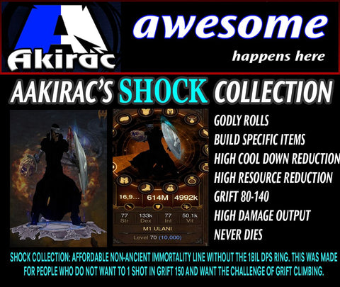 Shock v1 Ulania Monk Set for Rift Climbing-Diablo 3 Mods - Playstation 4, Xbox One, Nintendo Switch