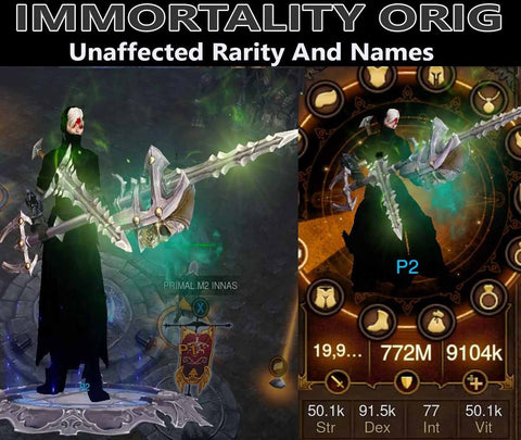 Immortality Orig Innas Monk (v3)-Diablo 3 Mods - Playstation 4, Xbox One, Nintendo Switch