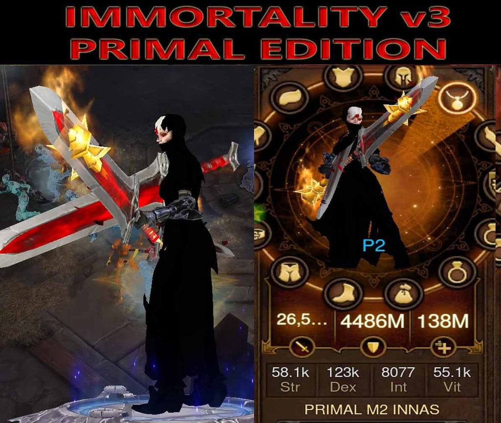 [Primal Ancient] Immortality v3 Innas Monk Primal-Diablo 3 Mods - Playstation 4, Xbox One, Nintendo Switch