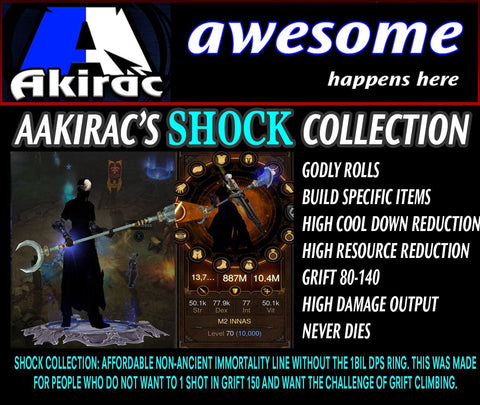 Shock v1 Innas Monk Set for Rift Climbing-Diablo 3 Mods - Playstation 4, Xbox One, Nintendo Switch