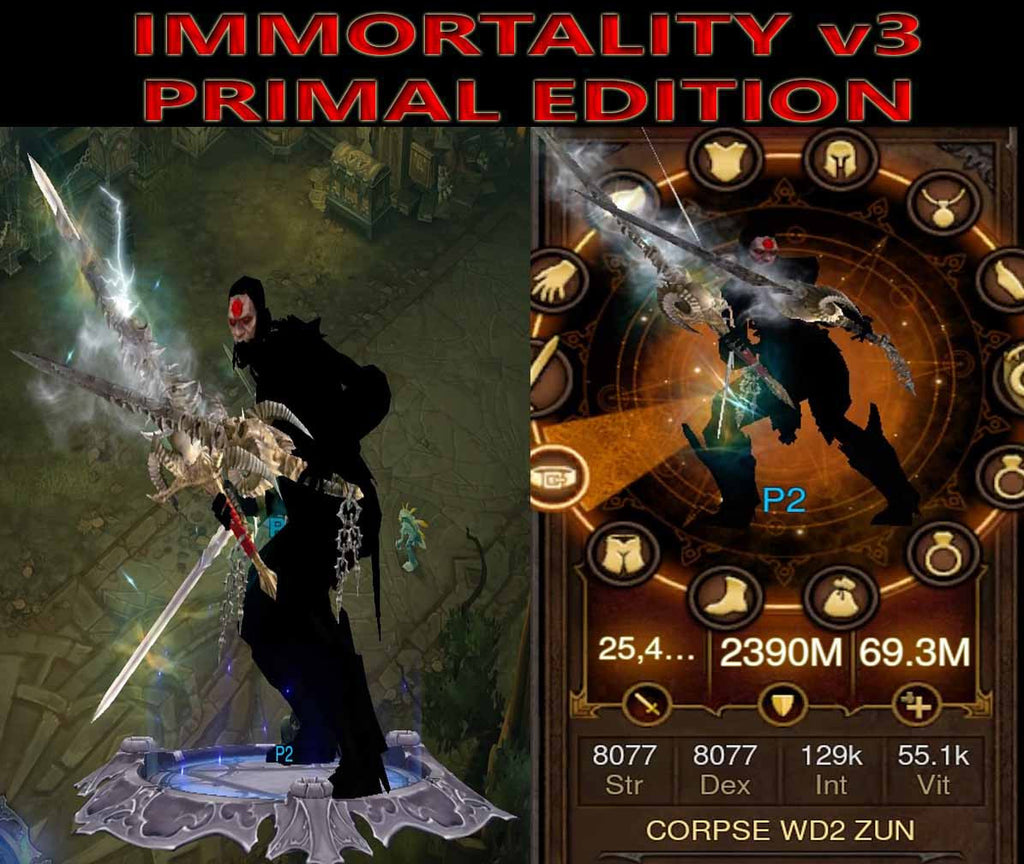 [Primal Ancient] Diablo 3 Immortal v3 Zunimassa Witch Doctor Rift 150 CORPSE