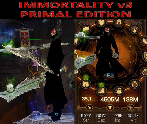 [Primal Ancient] Immortality v3 Vyr's Wizard Abyss-Diablo 3 Mods - Playstation 4, Xbox One, Nintendo Switch