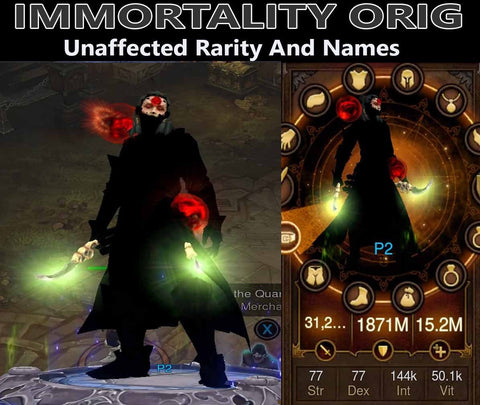 Immortality Orig Vyrs Wizard (v3)-Diablo 3 Mods - Playstation 4, Xbox One, Nintendo Switch