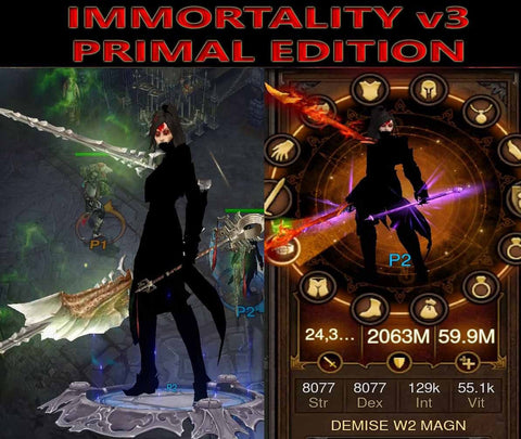 [Primal Ancient] Immortality v3 Magnum Opus Wizard Demise-Diablo 3 Mods - Playstation 4, Xbox One, Nintendo Switch