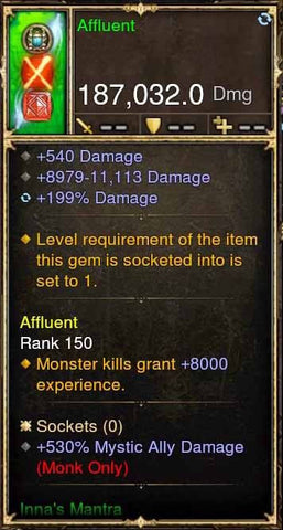 Affluent Modded Weapon Inna's Set Staff + 530% Mystic Ally Damage-Diablo 3 Mods - Playstation 4, Xbox One, Nintendo Switch