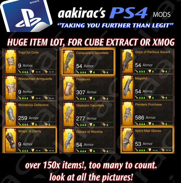 XMOG - TRANSMOG & CUBE EXTRACTION 170x + BUNDLE #3-Diablo 3 Mods - Playstation 4, Xbox One, Nintendo Switch