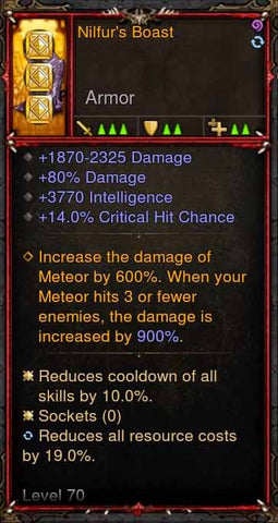 [Primal Ancient] [QUAD DPS] 2.6.1 Nilfur's Boast Boots-Diablo 3 Mods - Playstation 4, Xbox One, Nintendo Switch