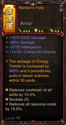 [Primal Ancient] [QUAD DPS] 2.6.1 Ranslors Folly Bracers-Diablo 3 Mods - Playstation 4, Xbox One, Nintendo Switch