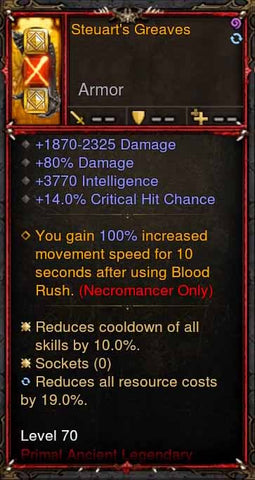 [Primal Ancient] [QUAD DPS] 2.6.1 Steuarts Greaves Boots-Diablo 3 Mods - Playstation 4, Xbox One, Nintendo Switch
