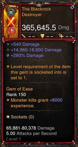 [Primal Ancient] 365k Actual DPS The Blackrock Destoryer-Diablo 3 Mods - Playstation 4, Xbox One, Nintendo Switch