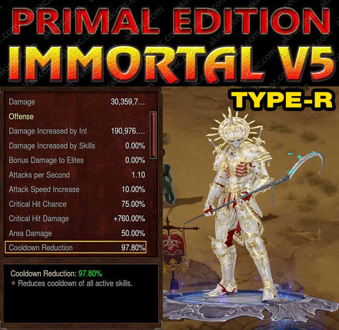 [Primal Ancient] Immortality v5 Type-R Ingot Modded Necromancer Inarius Set-Diablo 3 Mods - Playstation 4, Xbox One, Nintendo Switch