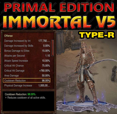 [Primal Ancient] Immortality v5 Type-R Sprig Modded Necromancer Pestilence Set-Diablo 3 Mods - Playstation 4, Xbox One, Nintendo Switch