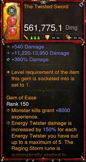 [Primal Ancient] 561k Actual DPS 2.6.10 The Twisted Sword