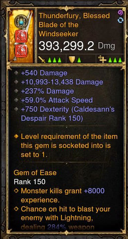 393k Thunderfury Sword - Diablo 3 ROS [PS4 SOFTCORE]-Diablo 3 Mods - Playstation 4, Xbox One, Nintendo Switch