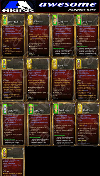 IMv3 6x Classes Bundle (6x Full Sets)-Diablo 3 Mods - Playstation 4, Xbox One, Nintendo Switch