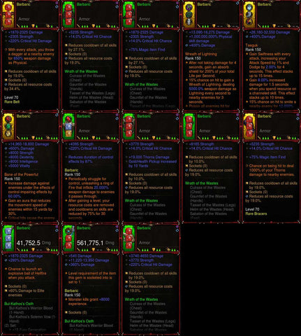 [Primal Ancient] [Quad DPS] [LIMITED] Diablo 3 IMv5 Waste Barbarian Set Barbaric W1