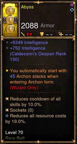Abyss Addon: Fazula's Improbable Chain Modded Belt-Diablo 3 Mods - Playstation 4, Xbox One, Nintendo Switch