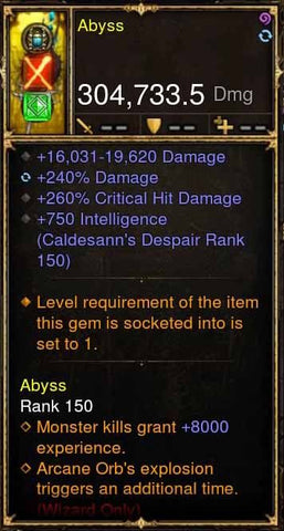 Abyss Addon: 304k Actual DPS Unstable Scepter Modded Wand-Diablo 3 Mods - Playstation 4, Xbox One, Nintendo Switch