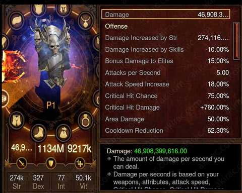 Prime Akkhan's Crusader - High DPS #B1-Diablo 3 Mods - Playstation 4, Xbox One, Nintendo Switch
