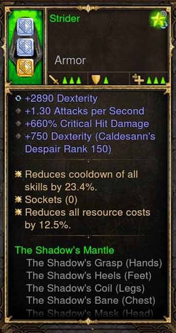 Strider Addon: IMV5 Alternative Demon Hunter Helm Shadow Mantle (No Control Lose)-Diablo 3 Mods - Playstation 4, Xbox One, Nintendo Switch