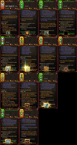 [Primal Ancient] 1-70 BobbaPearl's v3 Marauder Demon Hunter Set #B6