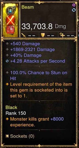 Beam 100% Stun Bow Fast 5.X APSpeed-Diablo 3 Mods - Playstation 4, Xbox One, Nintendo Switch