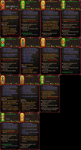 [Primal Ancient] 1-70 BobbaPearl's v2 Zunimassa Witch Doctor Set for 150 Rift #B2-Diablo 3 Mods - Playstation 4, Xbox One, Nintendo Switch
