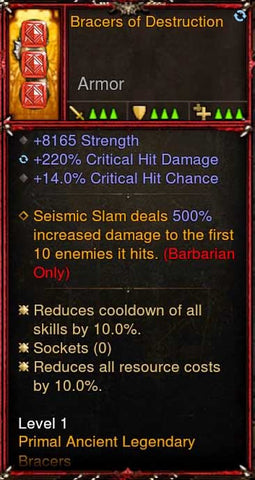 [Primal Ancient] 2.6.7 Bracers of Destruction