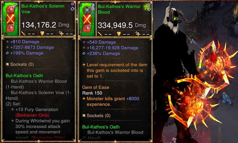 Bul-kathos Combo 334k/134k w/ Kanai's Scorn Rare XMOG Actual DPS Modded Weapon-Diablo 3 Mods - Playstation 4, Xbox One, Nintendo Switch