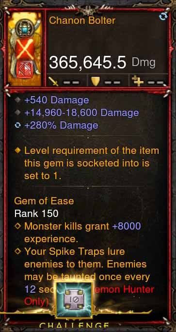 [Primal Ancient] 365k Actual DPS Chanon Bolter-Diablo 3 Mods - Playstation 4, Xbox One, Nintendo Switch