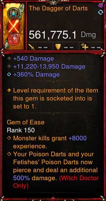 [Primal Ancient] [QUAD DPS] 2.6.5 The Dagger of Darts 561K DPS