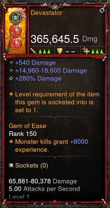 [Primal Ancient] 365k Actual DPS Devastator-Diablo 3 Mods - Playstation 4, Xbox One, Nintendo Switch