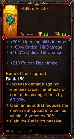 [Primal Ancient] Fake Legit Hellfire Amulet Demon Hunter Ballistics Passive-Diablo 3 Mods - Playstation 4, Xbox One, Nintendo Switch