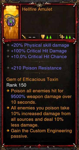 [Primal Ancient] Fake Legit Hellfire Amulet Demon Hunter Custom Engineering-Diablo 3 Mods - Playstation 4, Xbox One, Nintendo Switch