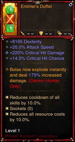 [Primal Ancient] 2.6.9 Emimei's Duffel