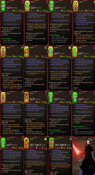 [Primal Ancient] EXP Leveling Set for Leveling 1-70 (ward, air, rain)-Diablo 3 Mods - Playstation 4, Xbox One, Nintendo Switch