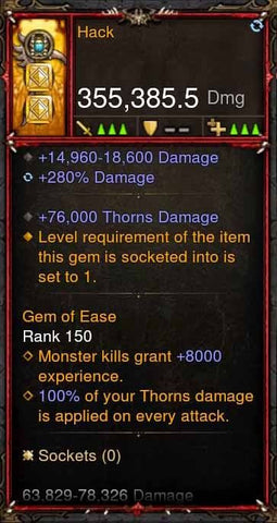 [Primal Ancient] 355k Actual DPS Hack (Thorns)-Diablo 3 Mods - Playstation 4, Xbox One, Nintendo Switch