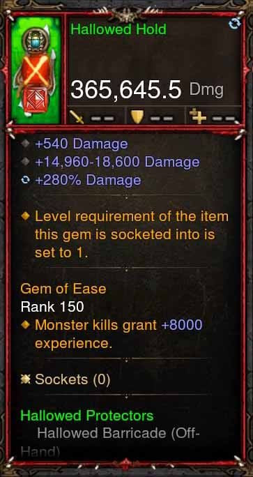 [Primal Ancient] 365k Actual DPS Hallowed Hold-Diablo 3 Mods - Playstation 4, Xbox One, Nintendo Switch