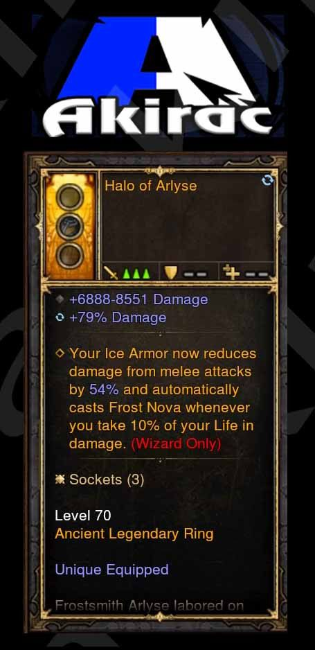 Halo of Arlyse 6.8k-8.5k Damage, 79% Damage Modded Ring (Unsocketed)-Diablo 3 Mods - Playstation 4, Xbox One, Nintendo Switch